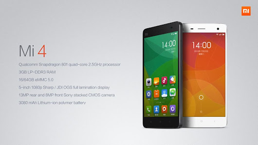 Xiaomi MI4 Detailed Specifications