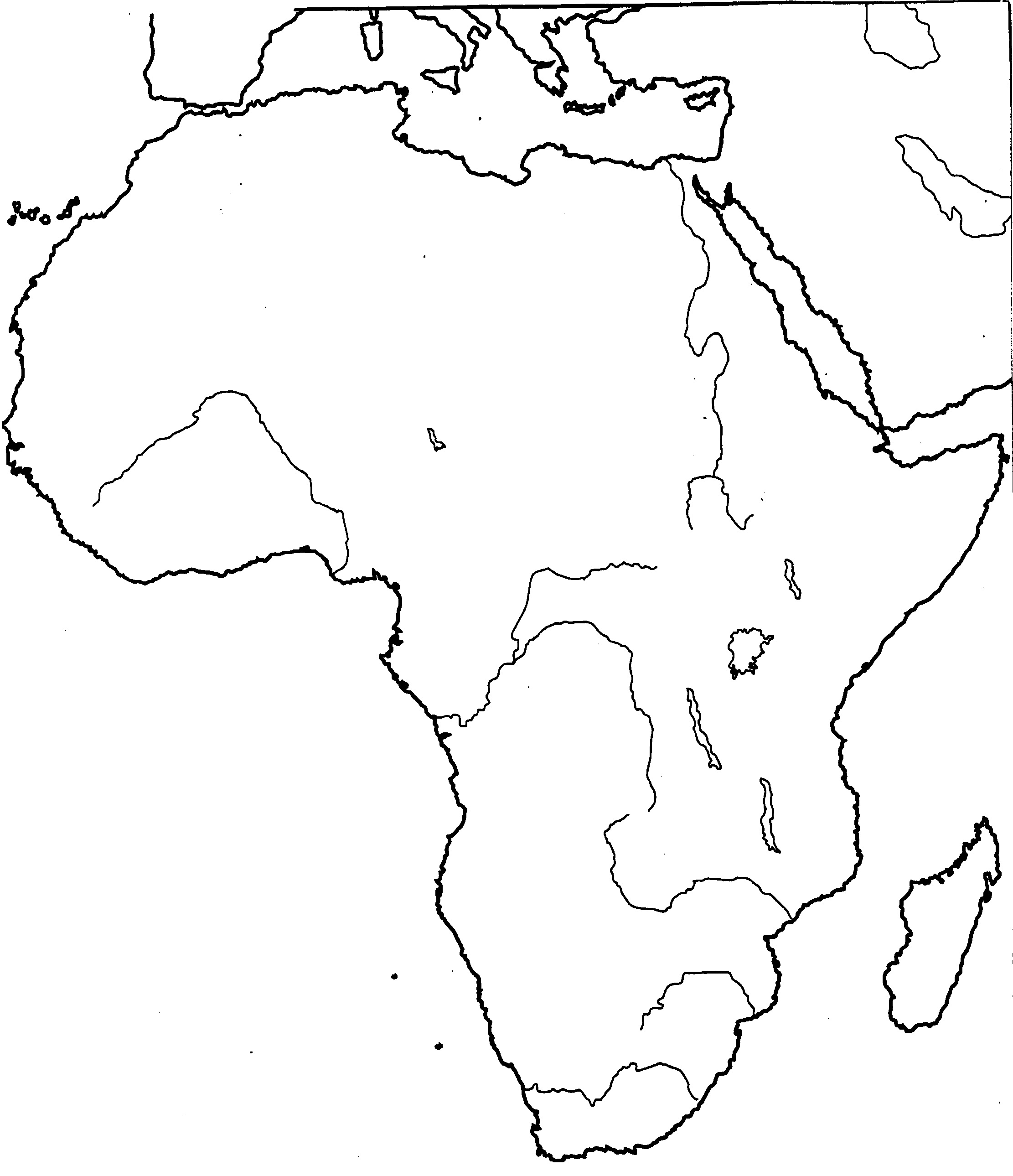 sub saharan africa map blank Africa Map Blank Political Map Of Africa Printable