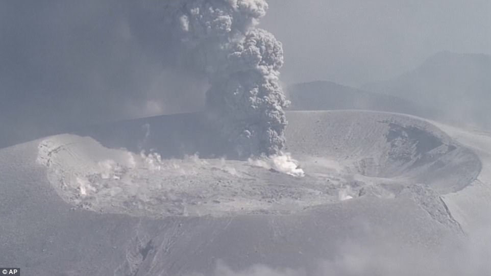 The volcano on the border of Kagoshima and Miyazaki prefectures started erupting on Wednesday for the first time in six years