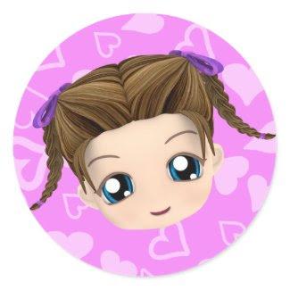 Chibi Girl Stickers sticker