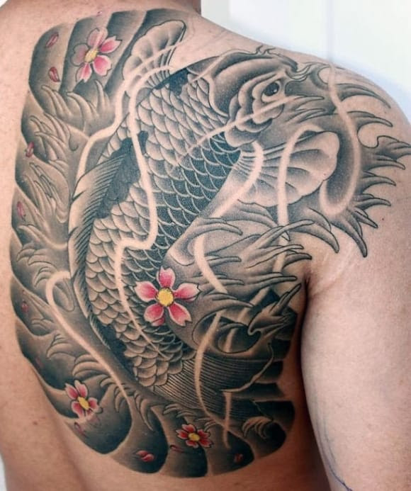 50 Koi Fish Tattoo Designs For Men Japanese Symbol Of Masculinity