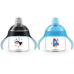 Philips Avent My Little Sippy Cup 7 Ounce - Blue/Black (2 Pack)