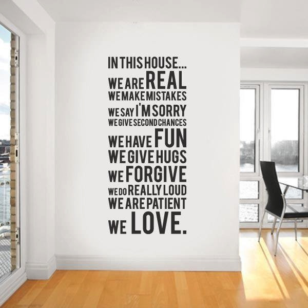Wall decal quote | Interior Design Ideas.