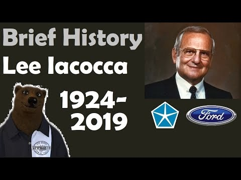 Lee Iacocca, Father of the Mustang 1924 - 2019 (A Brief History)