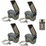 Stealth Cam HME-12VBBSLR Trail Cam Solar Auxiliary Power Pack, 4-Pack, Universal