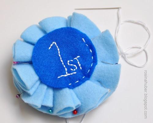 Blue Ribbon Rosette Tutorial