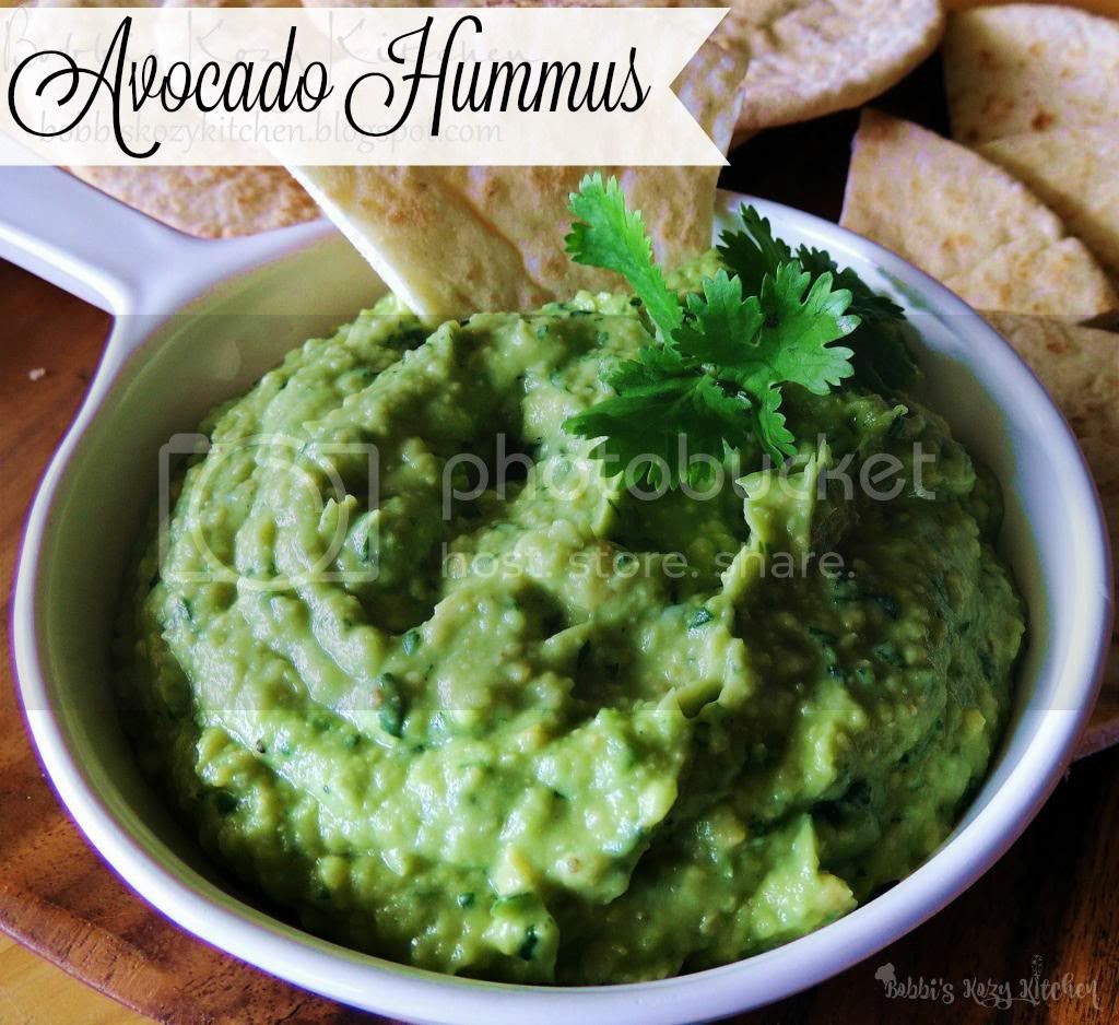 Avocado Hummus - Creamy avocado, and serrano pepper, come together with chickpeas to make this delicious twist of the classic hummus.From www.bobbiskozykitchen.com