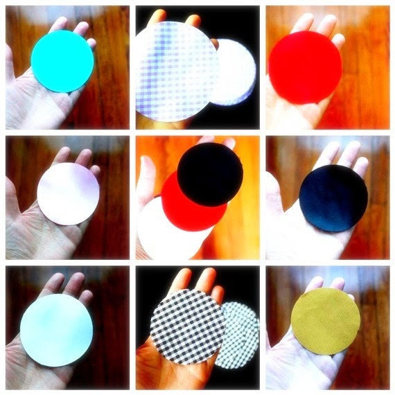Lot of 100, Mix and Match Available - Hand Cut Fabric Circles -  YOU Choose Color, Fabric and Size - For DIY Fabric Flowers Appliques