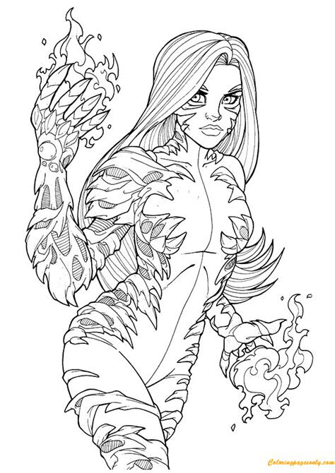 tigra avengers coloring page  coloring pages