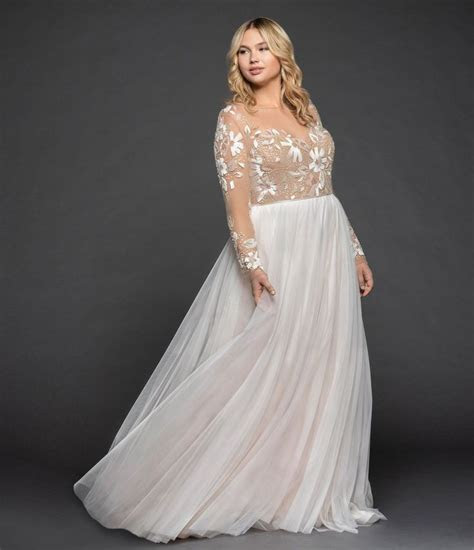 Hayley Paige bridal gown   Rosewater long sleeve A line