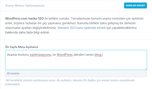 WordPress Meta Description Ayarları