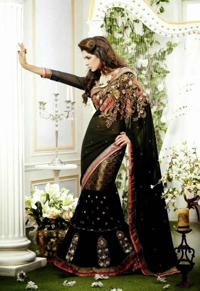 Bridal-Wedding-Rich-Heavy-Embroidered-Sarees-Designs-Lehanga-Style-Fancy-Sari-New-Fashion-13