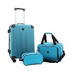Travelers Club 3-Piece Luggage Value Set, Adult Unisex, Size: OSFA, Teal