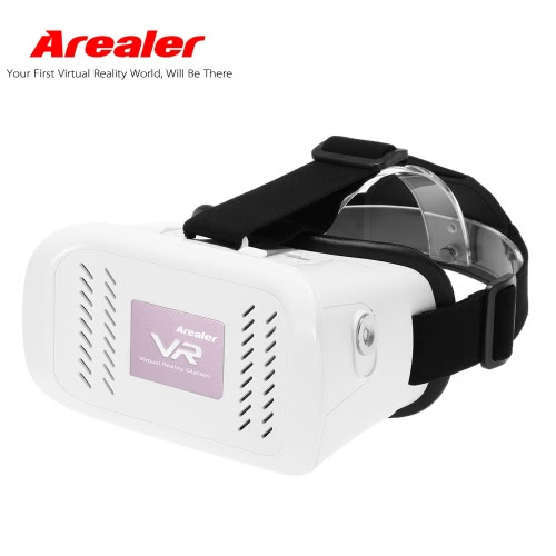 "High Quality Arealer VR Virtual Reality Glasses Headset 3D Glasses DIY 3D Movie Game Glasses w/ Magnetic Switch  Head-Mounted Headband for iPhone Samsung / All 3.5 ~ 6.0"" Smart Phones from Tomtop.com"