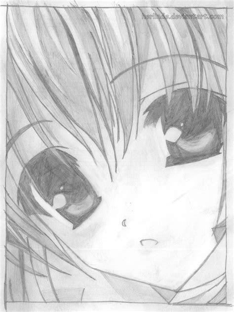 anime style drawing cute girl
