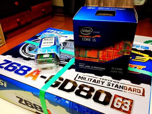 Z68A-GD80(G3) + i5-2500 + 8GBDIMM by cinz