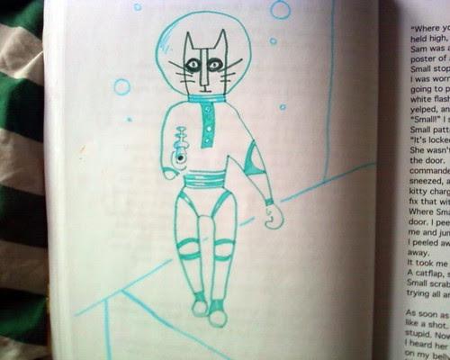 space cat doodle