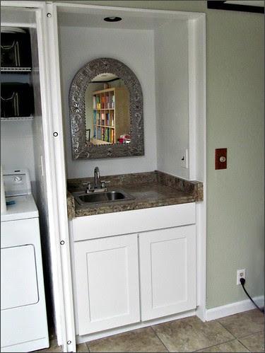 Completed studio sink