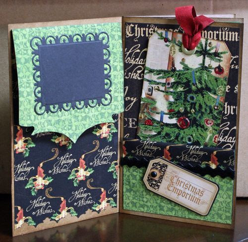 CHA-S Altered Art Box Christmas 9