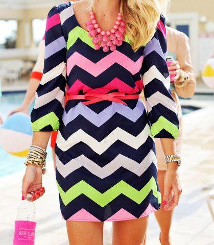 #Chevron #Dress #Style