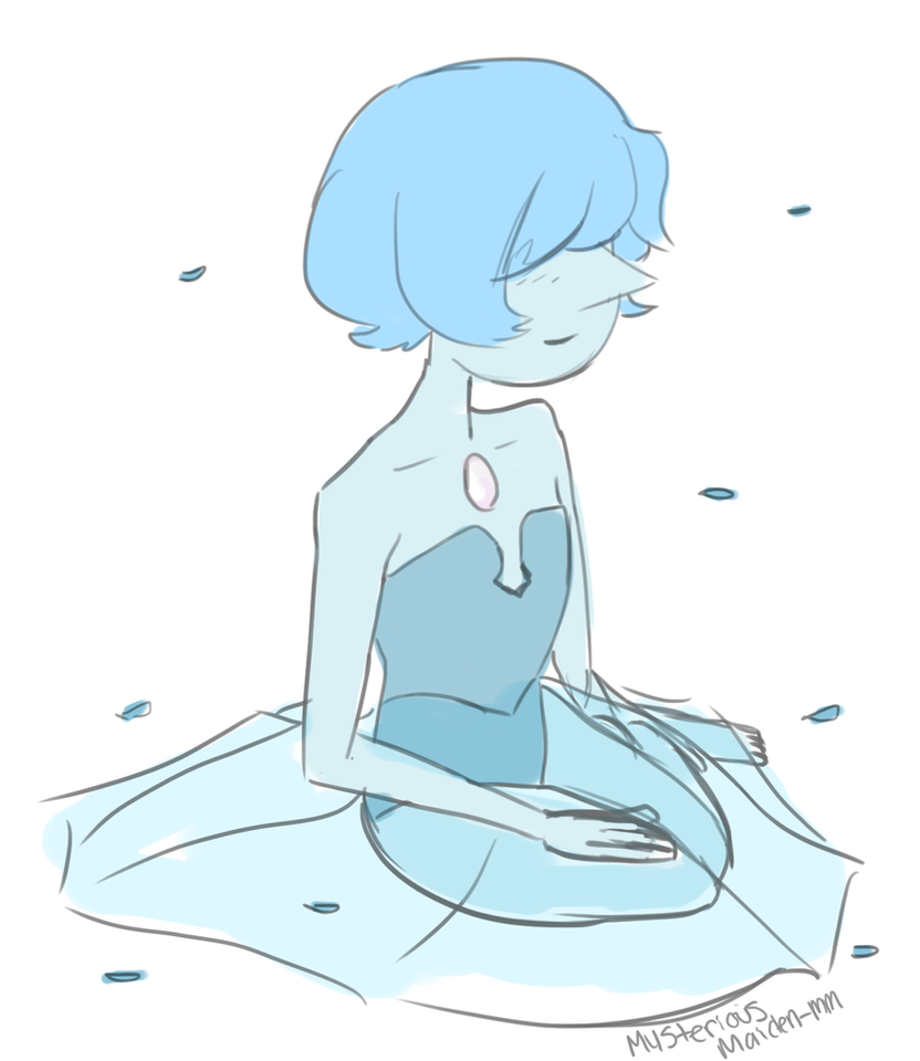 im trying out a new style. tell me what you guys think.  i love blue pearl a lot Blue Pearl (c) Rebecca Sugar