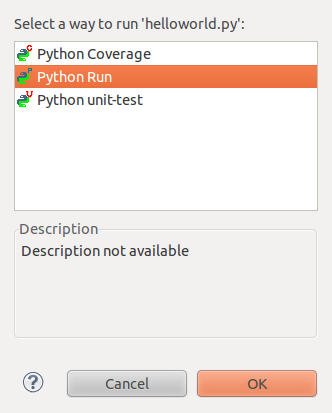 Eclipse: How to run Python Script