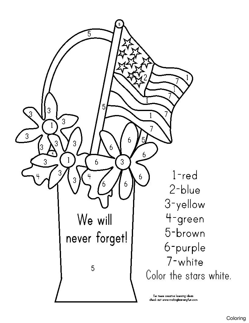 - Coloring Pages For Kids Veterans Day - Hd Football