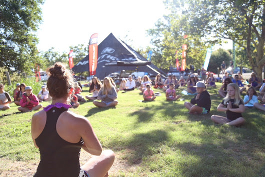Teaching Yoga At Girls Ride The Wake This Year Was Awesome!
