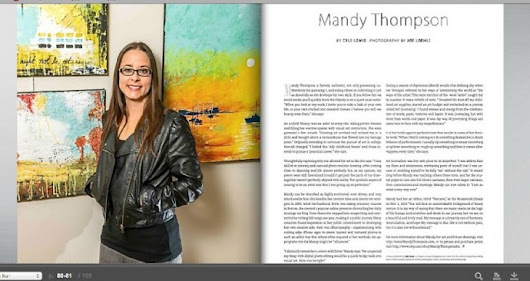 Mandy Thompson – Mixed Media Artist – Golden Isles Magazine Feature