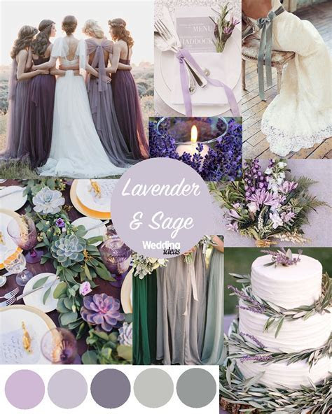 Lavender & Sage wedding scheme inspo by Wedding Ideas