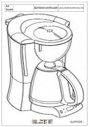 Kahve Makinesi Boyama Sayfaları