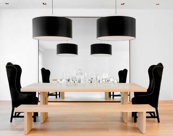 Chụp đèn Moooi Vòng Boon màu đen cho không gian ăn uống kháng cáo ấn tượng