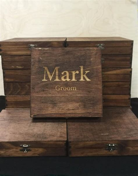 Custom Cigar Box, Groomsmen Best Man Personalized Gift