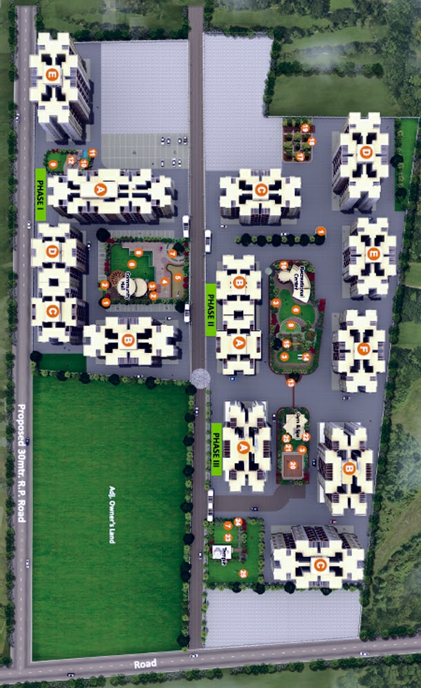 Layout Plan of  Neo City - Phase 3, 2 BHK Flats, behind Jain College Bakori Road, Wagholi, Pune 412207