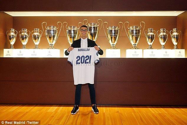 Su nuevo contrato verá Ronaldo deslumbra en el Santiago Bernabéu hasta 2021