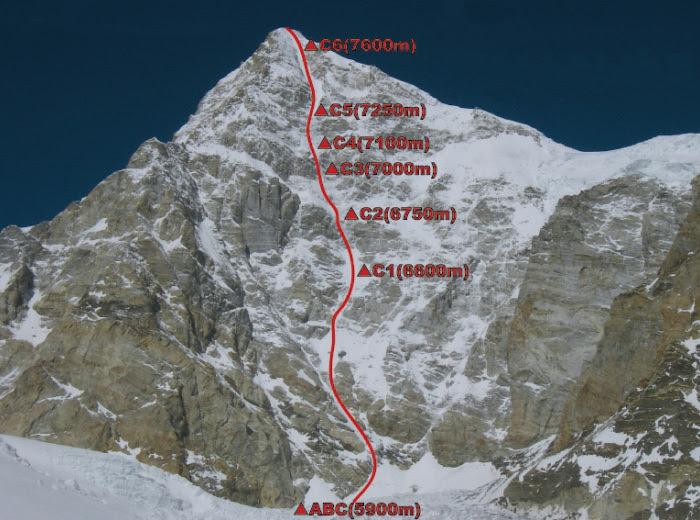 Kamet, SE Face: Samurai Direct, established in pure alpine style by Japanese alpinists Kei Taniguchi amd Kazuya Hiraide (1800m, MI5+, AI5+, 26/09 - 07/10/2008)