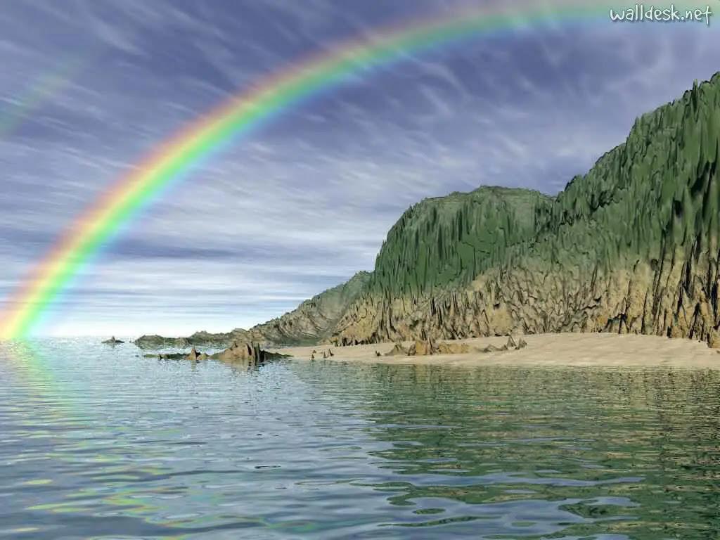 Resultado de imagem para paisagem com arco íris