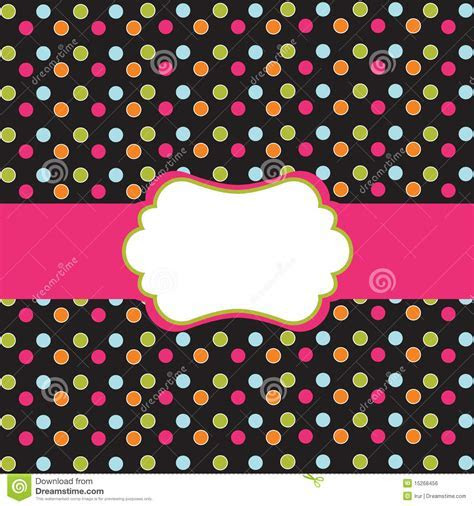 Polka Dot Design With Frame Royalty Free Stock Image