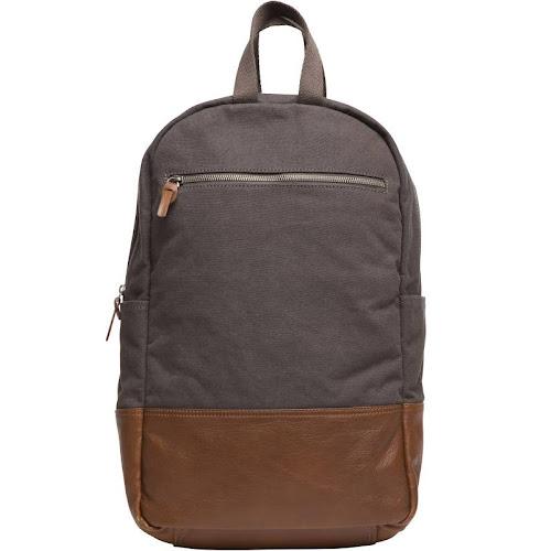 Alternative Men's Slim Backpack, Charcoal