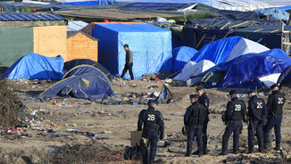 """Camp de """"La Jungla"""" a Calais (Reuters)"""