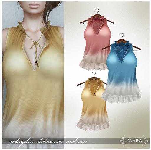 Zaara : Shyla Blouse colors 1