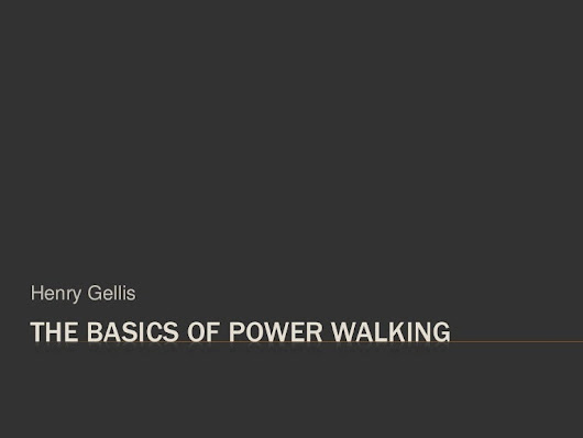 The Basics of Power Walking