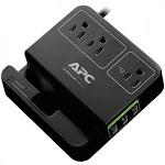 Apc APNP3U3B 3-Outlet SurgeArrest Surge Protector with 3 USB Ports - Black