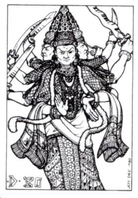 Illustration de Jeff Dee pour le dieu de la guerre Skanda Karttikeya