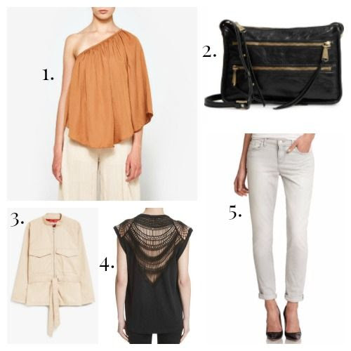 Farrow Top - Hobo Crossbody - Ganni Jacket - IRO Tee Shirt - J Brand Jeans