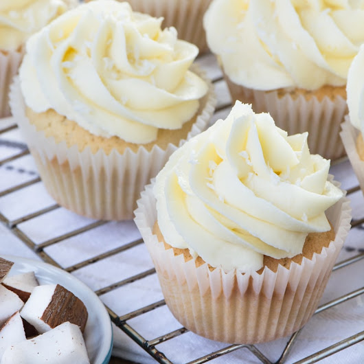 Coconut Cupcakes | Charlotte's Lively Kitchen