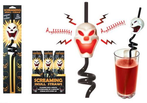 Skull Funny Drinking Straw