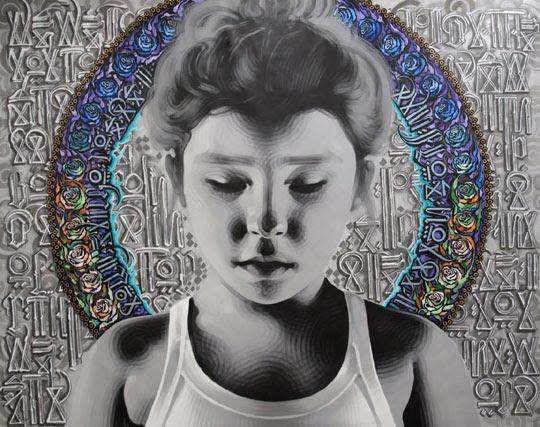 Street art  03 El MAC + RETNA /Marquis Lewis