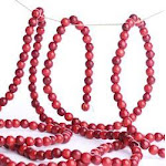 Bulk Case of 72 Burgundy and Cranberry Red Wooden Bead Garland, 9' long x 1/2'' diameter, Red/Burgundy, Craft Supplies