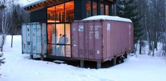 Holyoke Cabin. An Off Grid Shipping Container Home.